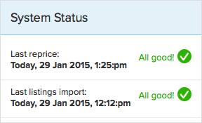 RepricerExpress system status updates