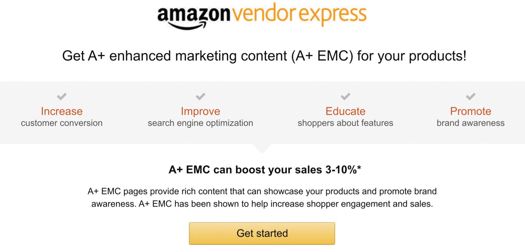 Amazon A+ Enhanced Marketing Content