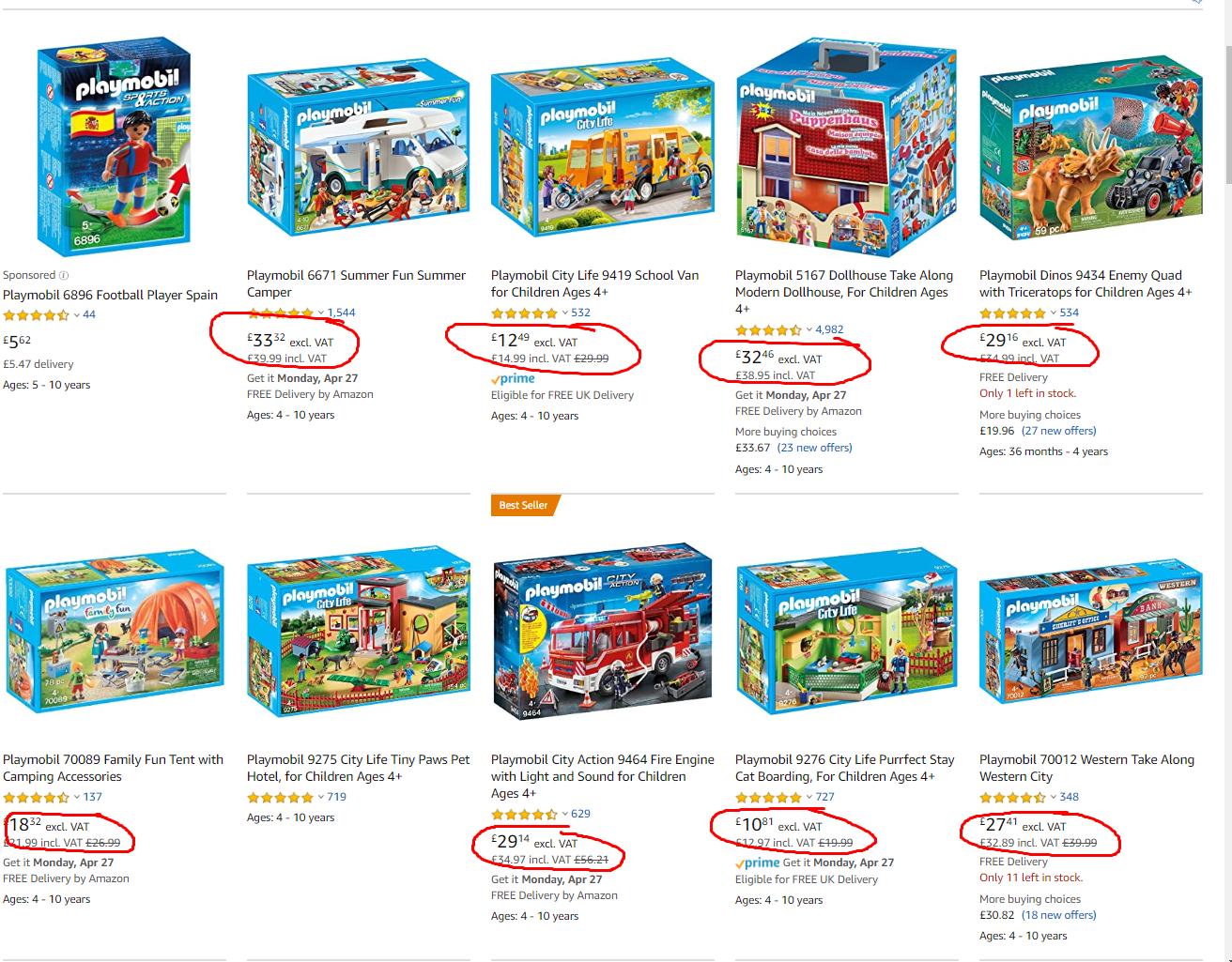 Amazon toys VAT rate