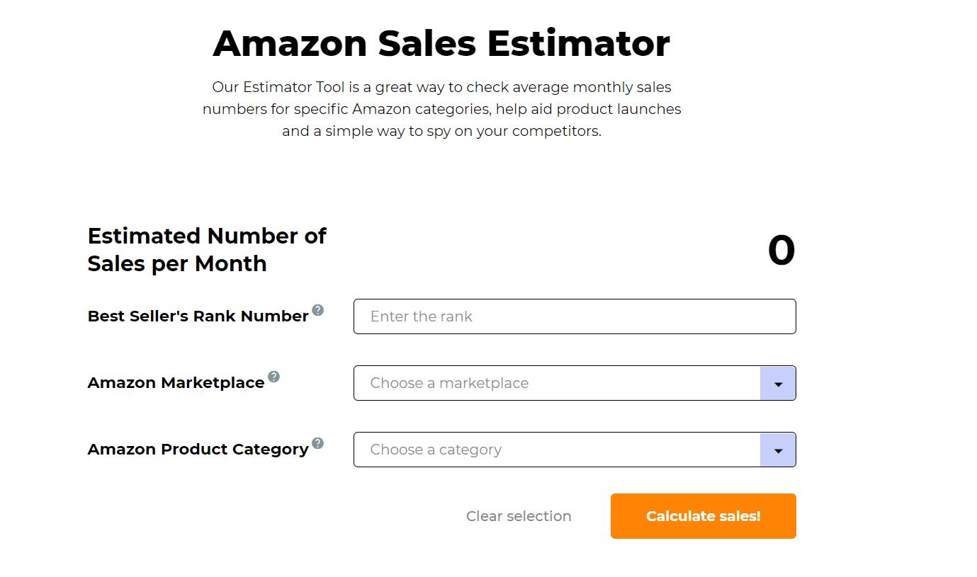 JungleScout sales estimator